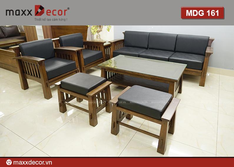 Sofa gỗ tự nhiên hiện đại cao cấp 161 - maxxDecor cực kỳ sang trọng