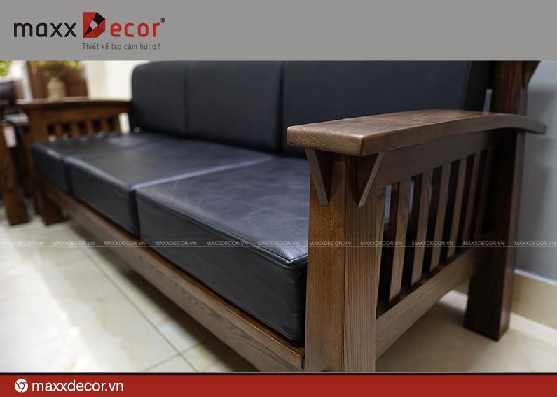 Sofa gỗ tự nhiên hiện đại cao cấp 161 - maxxDecor cực kỳ sang trọng - 5