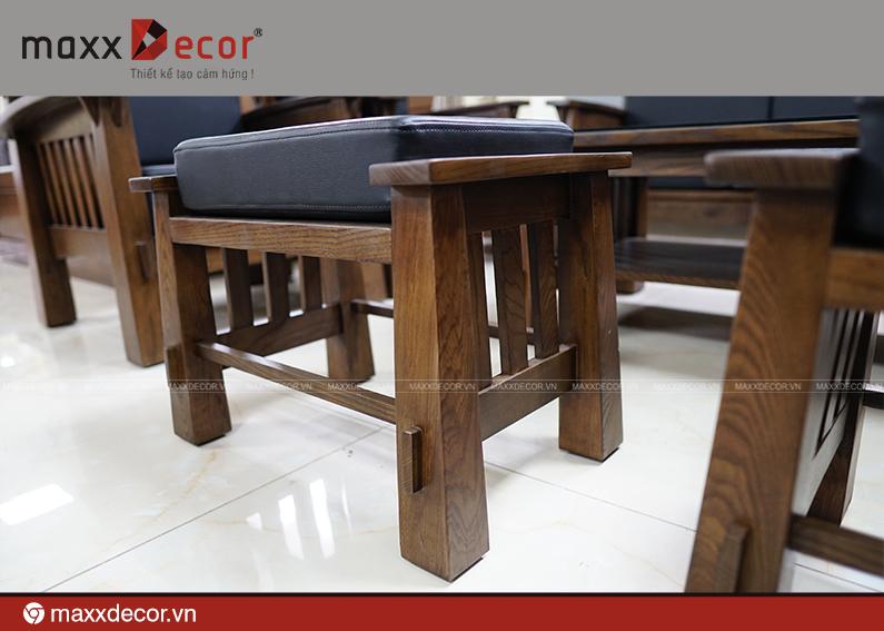 Sofa gỗ tự nhiên hiện đại cao cấp 161 - maxxDecor cực kỳ sang trọng - 6