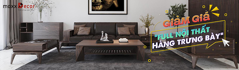Sofa gỗ full bộ giảm giá hàng trưng bày