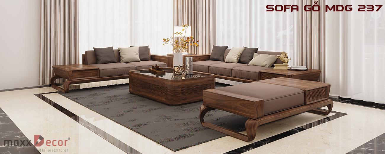 Thiết kế sofa gỗ mdg 237 maxxdecor